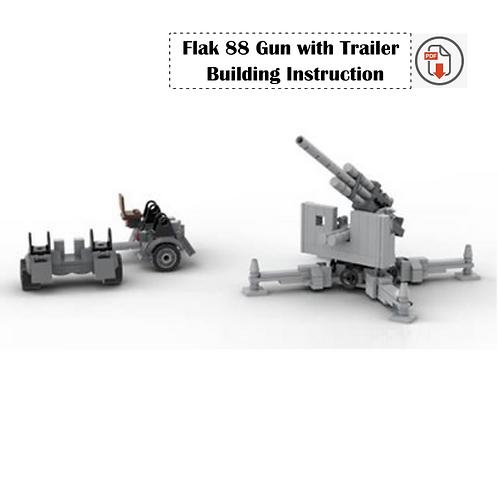 Flak 88 Gun with Trailer Building Instruction