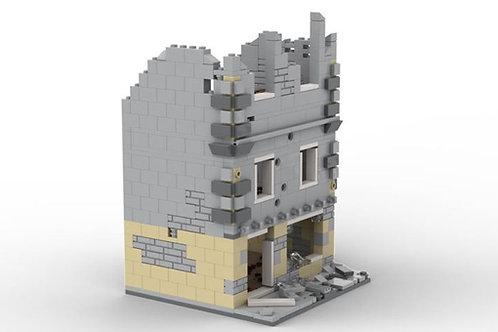 Custom WW2 Ruined Building N2 (Lego-Compatible Bricks)