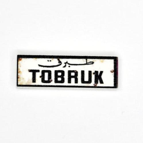 Printed LEGO® Tile 1x3 'WW2 Road Sign Tobruk'