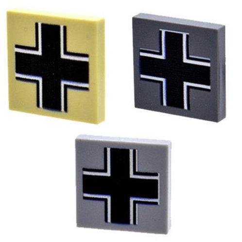Custom Printed 2X2 Tile - German Cross