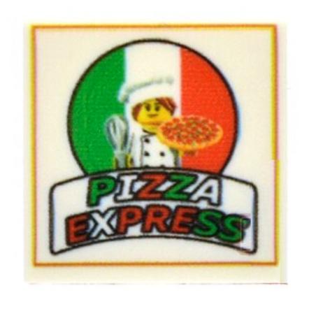Custom Printed Tile 2x2 - Italian Pizza Box