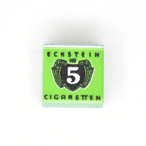 Printed LEGO® Tile 1x1 'WW2 Cigarettes Eckstein № 5'