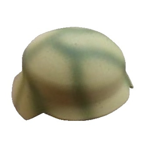 WW2 German Helmet Italian Front Turtle Shell Camo