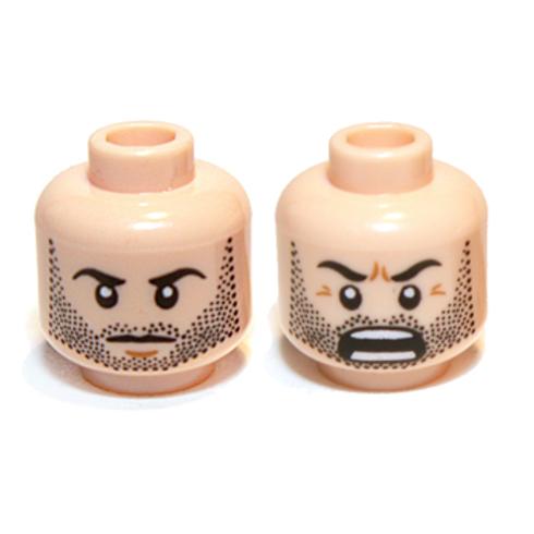 Head Dual Sided Beard Stubble, Calm / Battle Rage Pattern