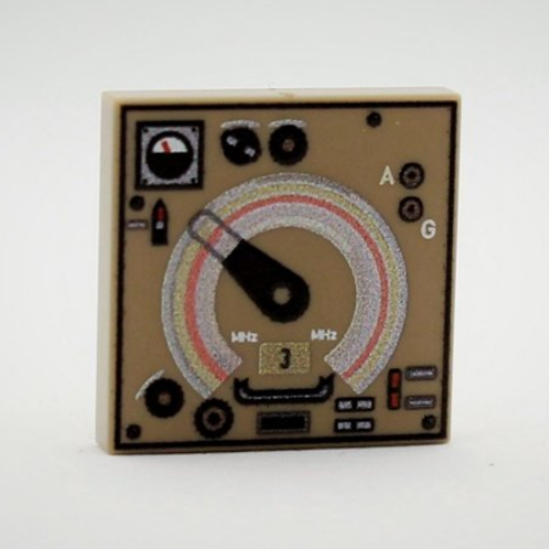 Printed LEGO® tile 2x2 'Fu.E.E.d Monitoring Receiver'