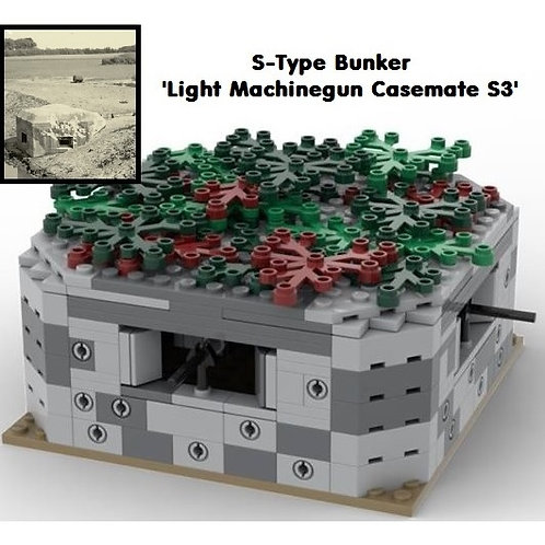 Bunker Light Machinegun Casemate S3 (genuine Lego bricks + printed tiles)