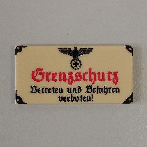 """Printed LEGO® Tile 2x4 'Wehrmacht Grenzschutz"""""""