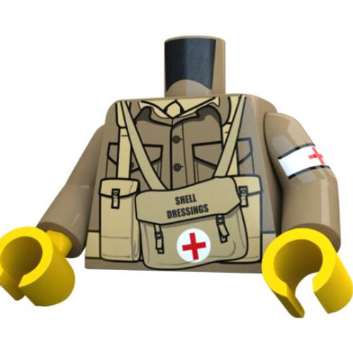 WW2 British Medic Torso by United Bricks