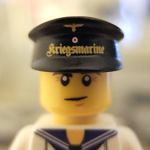 WW2 Kriegsmarine Cap Black (Tellermütze)