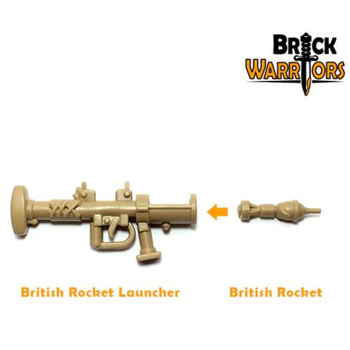 British PIAT Anti-Tank Rocket Launcher with Rocket