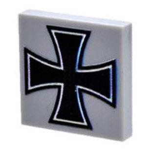 Custom Printed 2X2 Tile - German Iron Cross