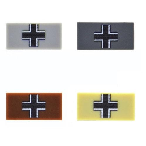 Custom Printed 1X2 Tile - German Cross