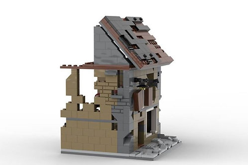 Lego Custom WW2 Ruined Building N1