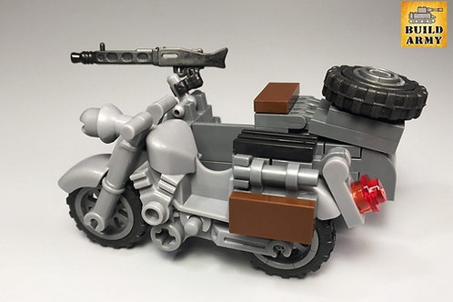 WW2 German motorcycle with sidecar