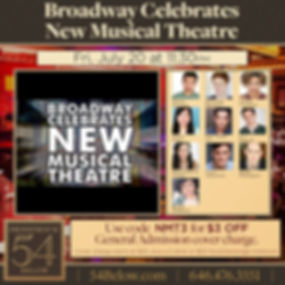 Broadway Celebrates New Musical Theatre.