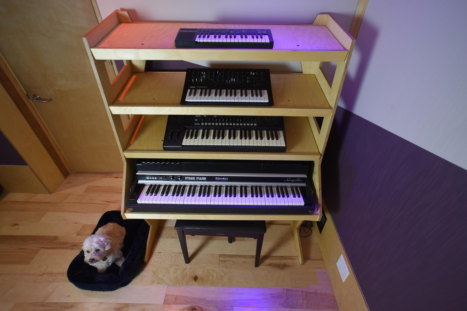 Keyboard Rack 2 w/Fender Rhodes