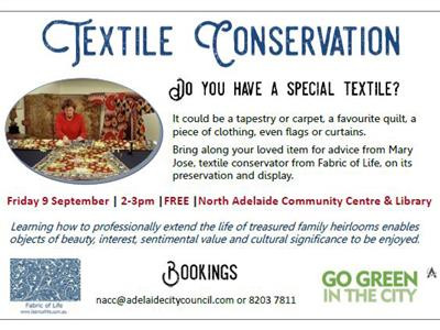 TEXTILE CONSERVATION WORKSHOPS