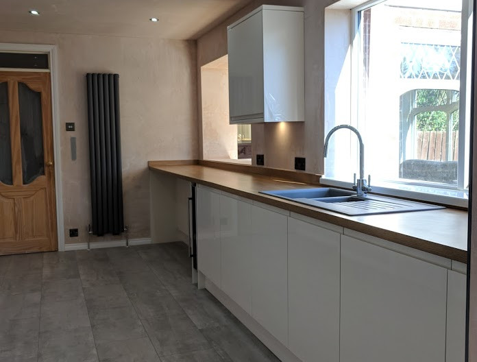 Kitchen and plastering fitted in North Shields.