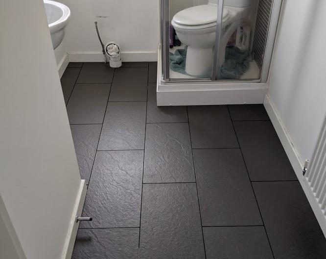 Bathroom floor tiled in Blyth
