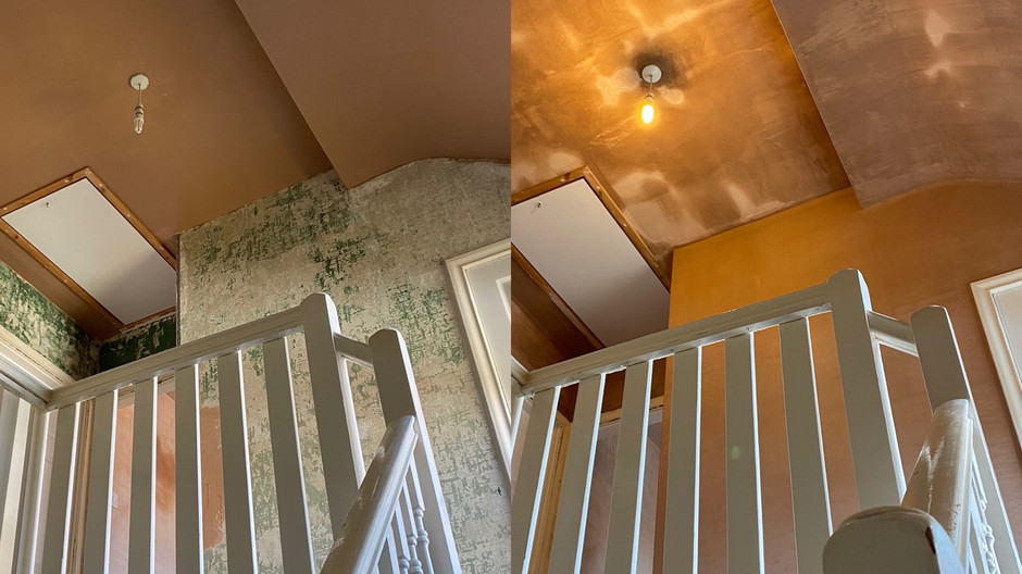 Staircase plastering in Whitley bay.