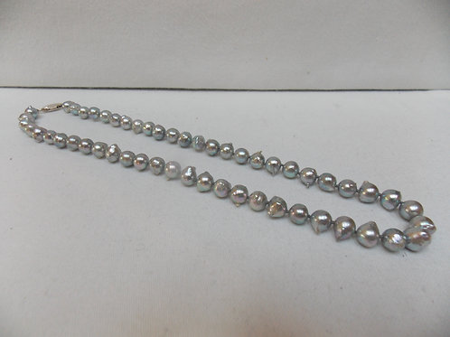 Silver Akoya Pearl Necklace