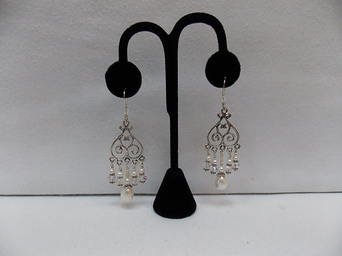 Chandelier Swarovski And Pearl Earrings