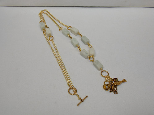 Amazonite, chain, and charms necklace