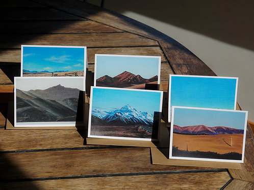 6 pack Mini Mountains Cards