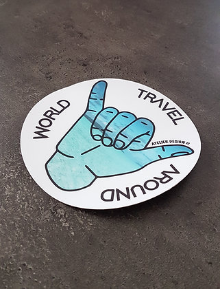 "Sticker ""Travel Around The World"""