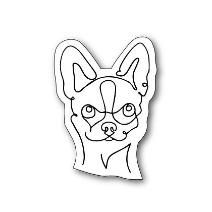 Sticker - Chihuahua One Line