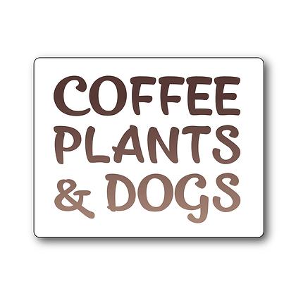 Sticker - Coffee & Dogs