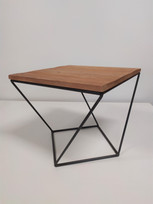 Table vieux bois et métal