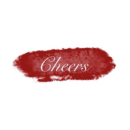 """Pochette """"CHEERS RED"""""""