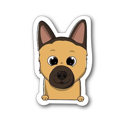 Sticker - Berger Allemand Cartoon