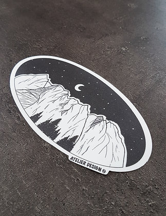 "Sticker ""Les Dents du Midi"""
