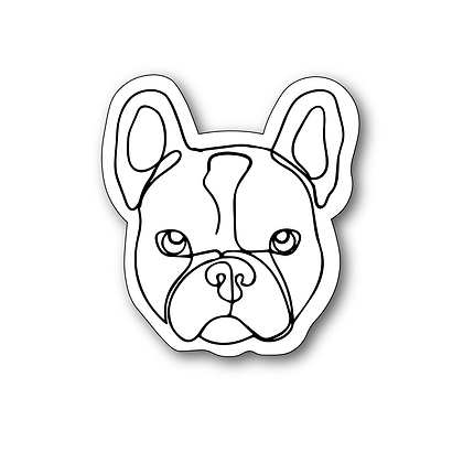 Sticker - Bouledogue One Line