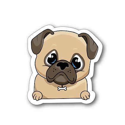 Sticker - Bouledogue Cartoon