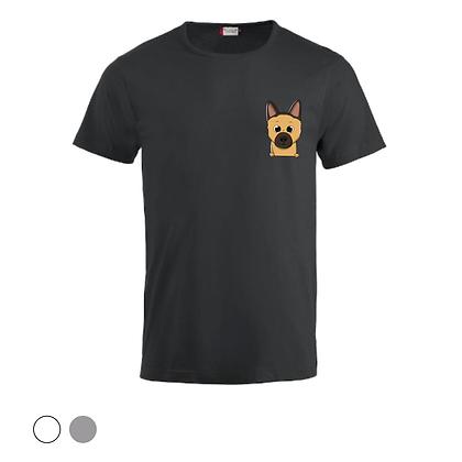 T-shirt unisex - Berger Allemand Cartoon