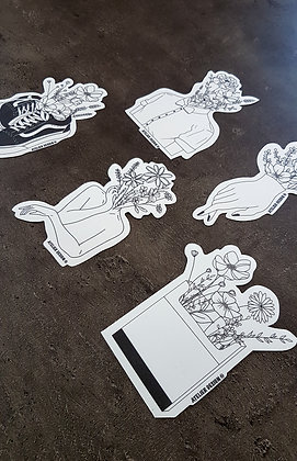 """PACK 5 STICKERS """"FLOWERS"""""""