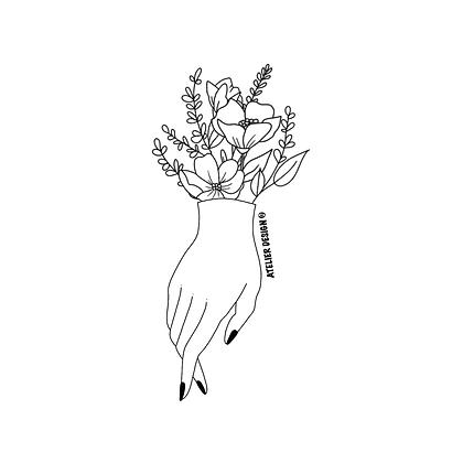 """Sac """"HAND FLOWERS"""""""