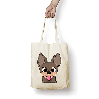 Sac en coton - Chihuahua Cartoon