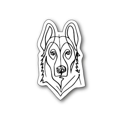 Sticker - Berger Allemand One Line