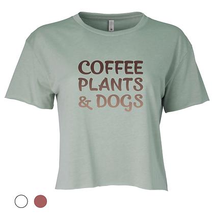 Crop top - Coffee & Dogs