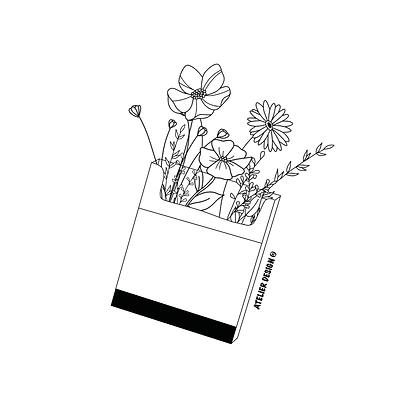 "Sac ""CIGARETTES FLOWERS"""