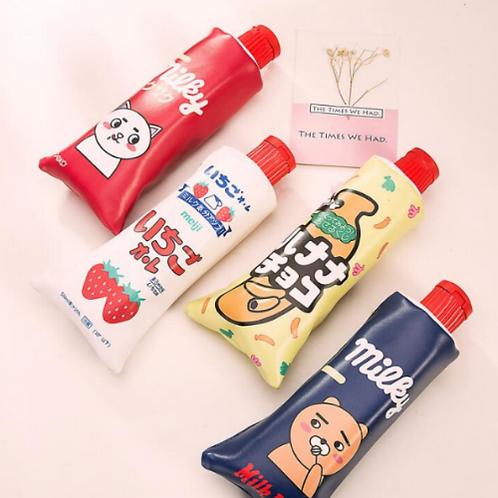 Toothpaste Pencil Case with Sharpener Cap