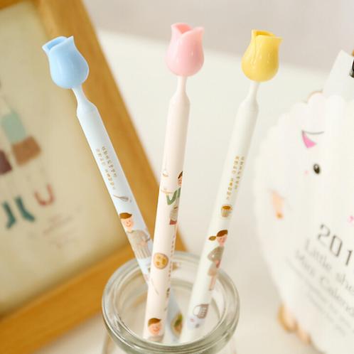Rose-Topped Ballpoint Pens