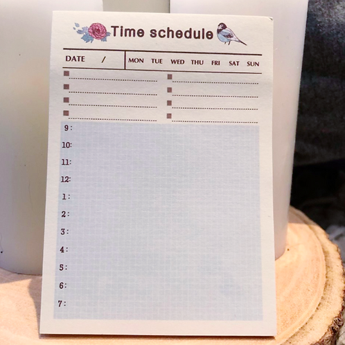 Time Schedule Notepad