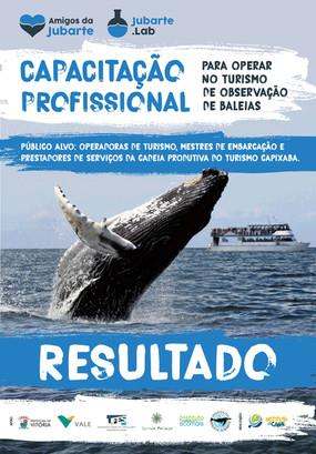 Resultado da Capacitação Profissional para o Desenvolvimento do Turismo de observação de Baleias no