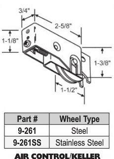 Keller Patio Door Roller Assembly