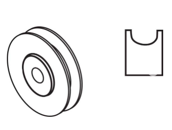 "1-1/2"" Steel Ball Bearing Roller"